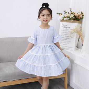 Flash Sale Baobao Korea Fashion Style lengan pendek anak-anak baru gaun putri gaun musim