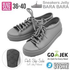 Bara Bara Sepatu Jelly Sneakers Silikon Shoes Cewek Silicone Kets - DD6382ELS - Light Grey
