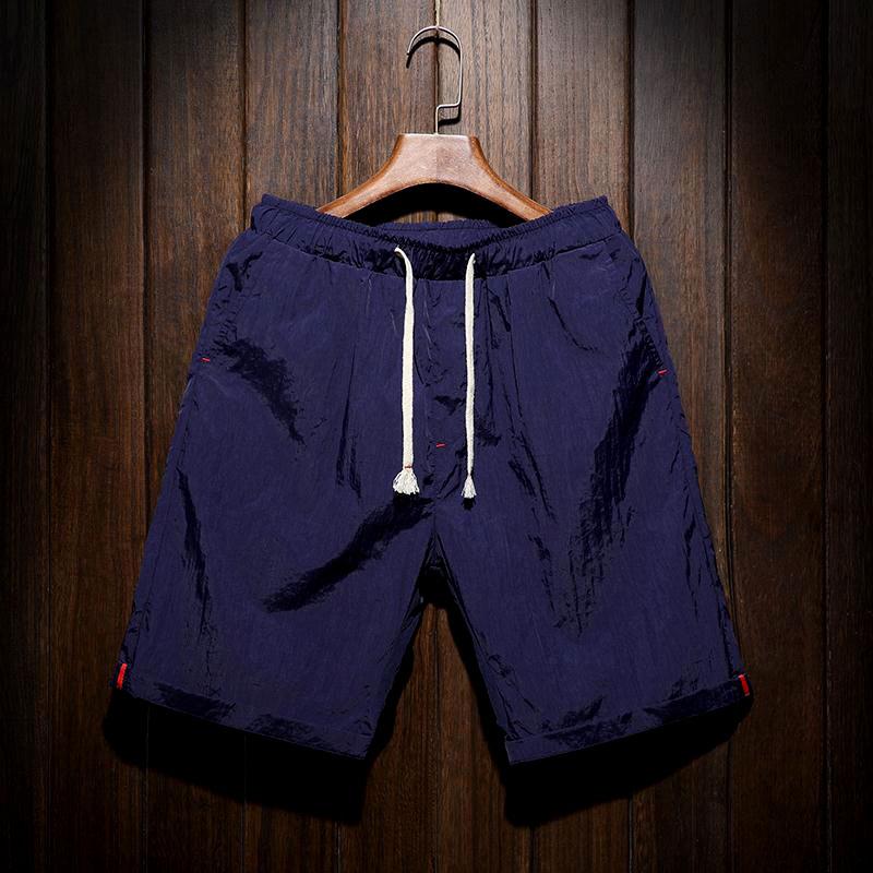 Baru bagian tipis cepat kering kasual celana pendek (Biru tua)