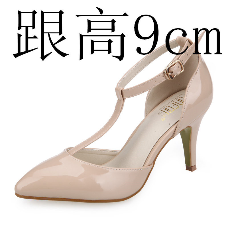 Flash Sale Baru bertumit tinggi baik dengan kode kecil Korea Fashion Style  perempuan sandal (BEIGE  dengan tinggi 9cm ) ab8ada5832