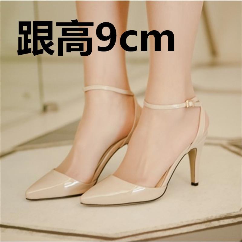 Flash Sale Baru bertumit tinggi baik dengan kode kecil Korea Fashion Style  perempuan sandal (Warna nude  dengan tinggi 9cm ) 1b1f80b893