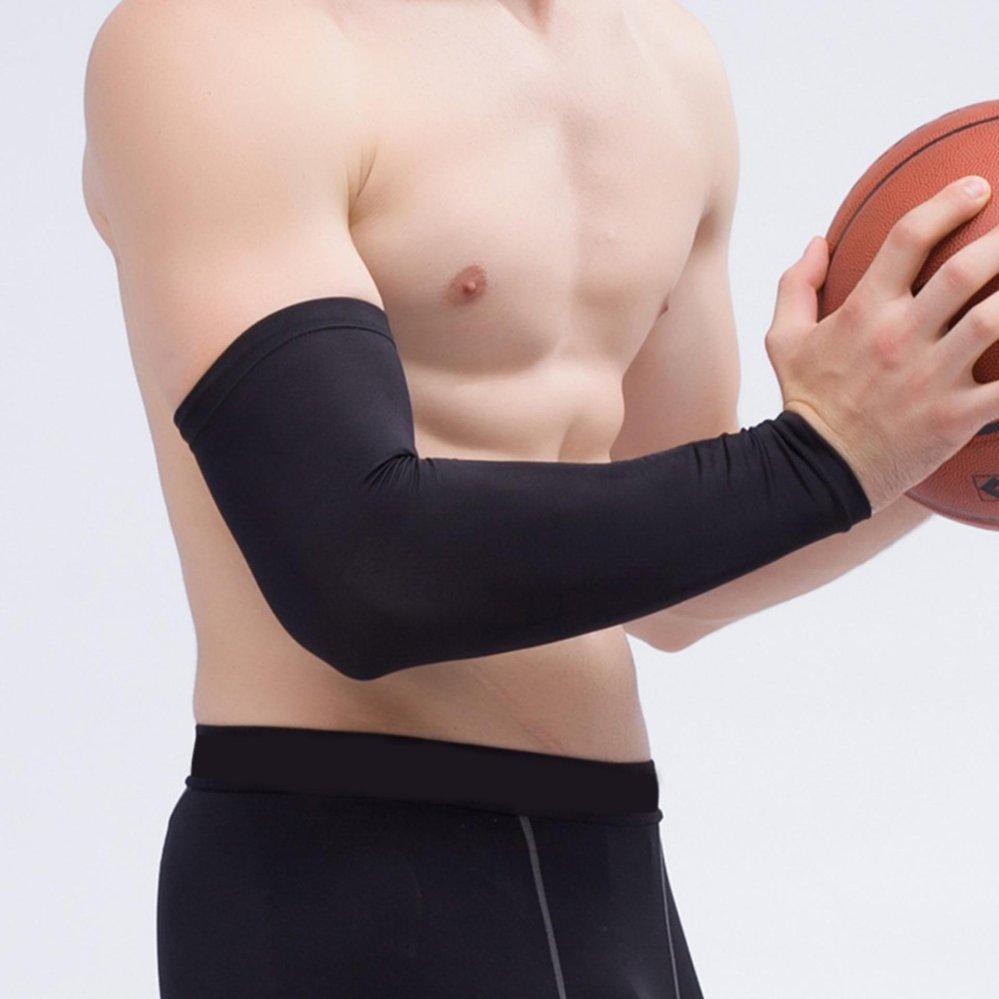 Neoprene Dukungan Tali Bahu Nyeri Artritis Cedera Olahraga Gym Liton Shoudler Support Deker Lengan Pelindung Otot Basket Tangan Pad Yg Tahan Pukulan Antislip Panjang International