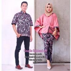 Batik Couple / Batik Sarimbit / Baju Kondangan Rabbani Set - Pink
