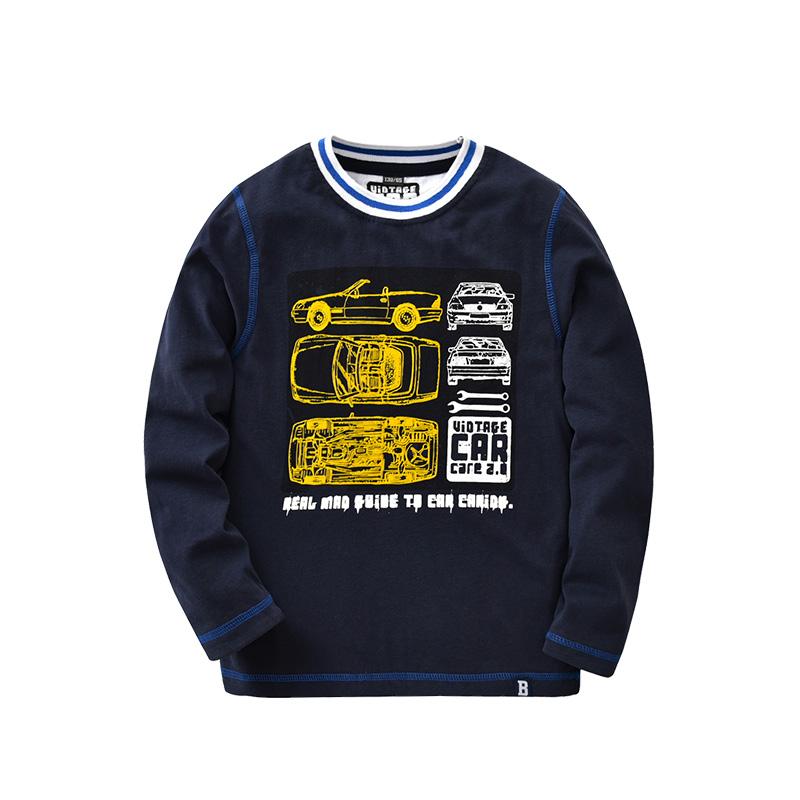 Beanbus Anak Laki-laki Lengan Panjang T-shirt (Biru tua) (Biru