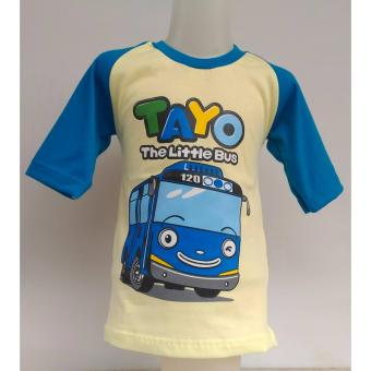 BEST SELLER BAJU KARAKTER ANAK TAYO THE LITTLE BUS ( CREAM )