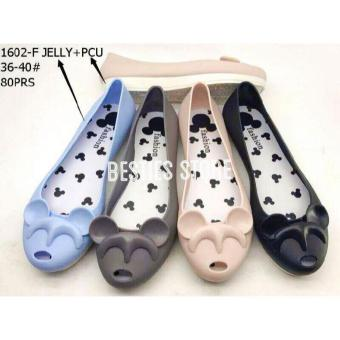 Besties Mikki Jelly Flat Slip On Sepatu Fashion Wanita - Multicolor