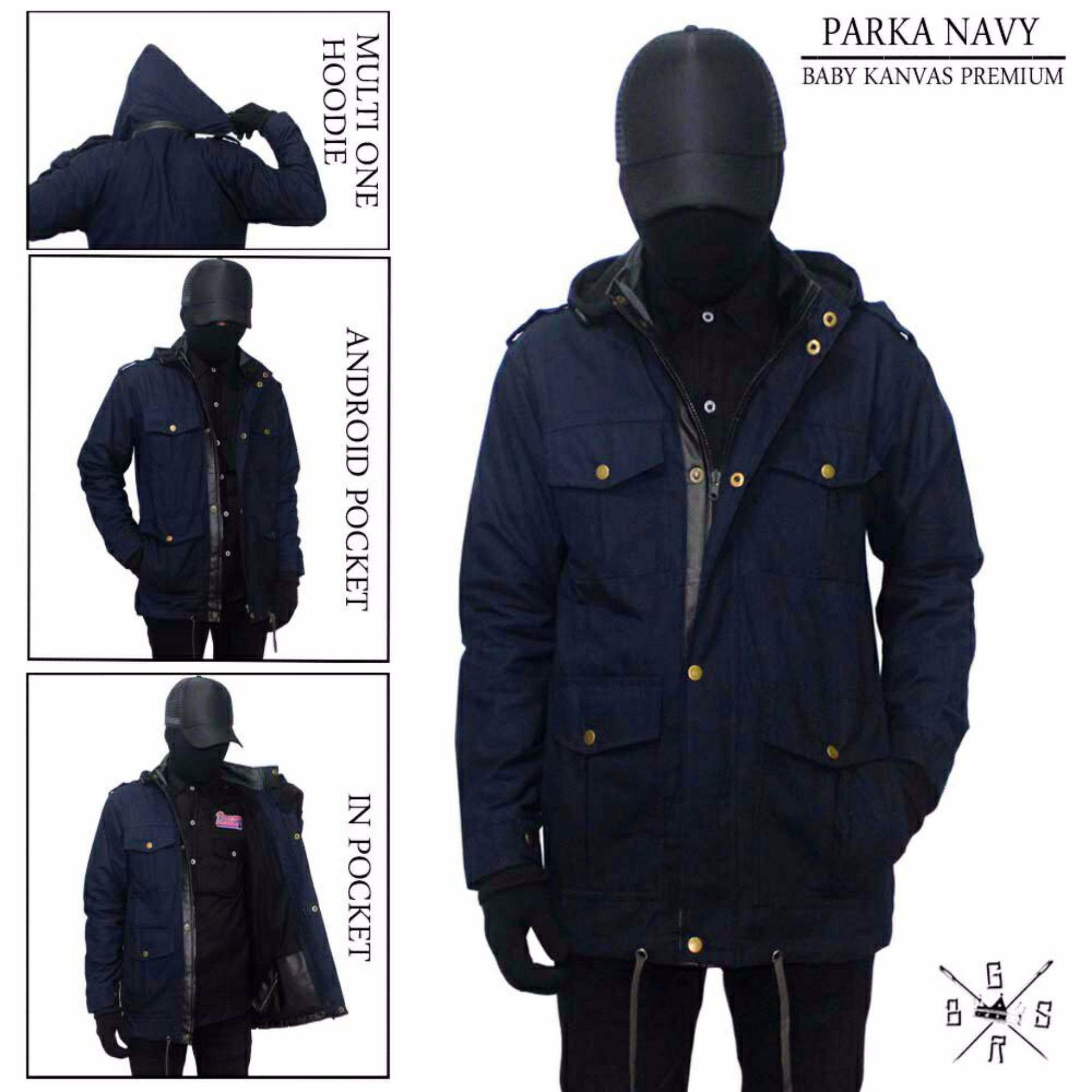 BGSR Jaket Parka Polos (Navy)