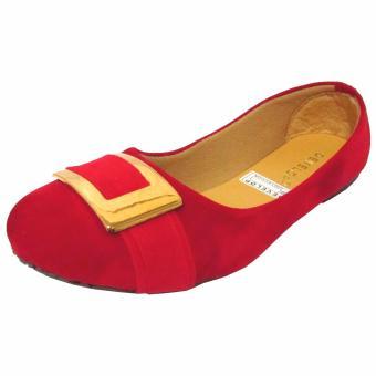 ... Binev Sepatu Slip On Wanita Develop 0011 - Red - 3 ...