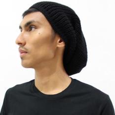 Black Beanie Hat / Topi Kupluk Rajut Hitam Okechuku