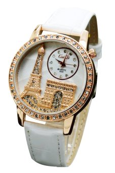 Bluelans® Eiffel Tower Crystal Faux Leather Quartz Wrist Watch ...