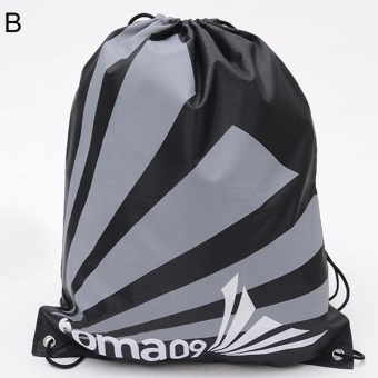 Bluelans Outdoor Drawstring Back Pack Sack Gym Tote Bag School Sport Shoe Storage Bag B - intl