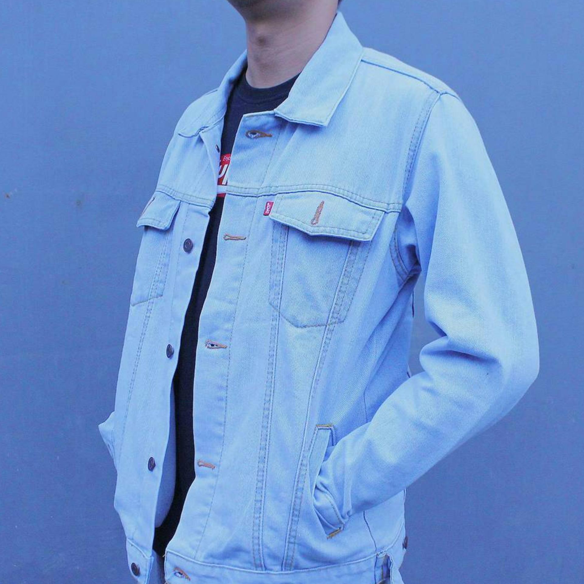 Ahf Jaket Jeans Denim Pria Biru Muda Bioblitz - Review Harga Terkini ... b136f63966