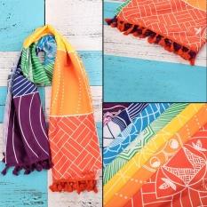 Bohemian Rainbow Tapestry Yoga Mat Tabir Surya Selendang Handuk Pantai Hippy BoHo Gypsy-Intl
