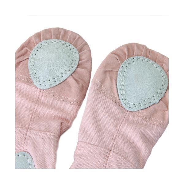 BolehDeals berwarna merah muda sepatu balet balita perempuan kami kanvas ukuran anak 11 .