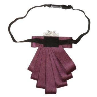 BolehDeals pria mempelai dasi kupu-kupu pesta pernikahan tari pitaDiamand dasi ungu - Internasional - 3