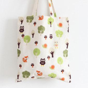 BolehDeals Women Canvas Shopping Shopper Tote Shoulder Bag BeachSatchel Handbag #6 - 4