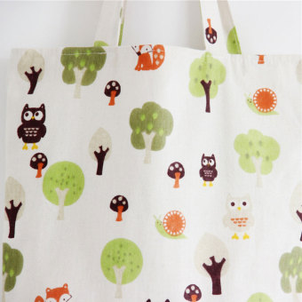 BolehDeals Women Canvas Shopping Shopper Tote Shoulder Bag BeachSatchel Handbag #6 - 5