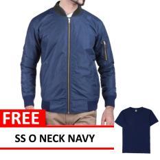Bomber Jacket Navy Free SS O Neck Navy