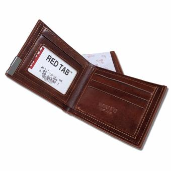 Bovis Dompet Pria Import Fashion Wallet 6 Inchi 1120 PU Leather - Deep .