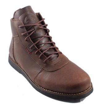Gambar Bradleys Brodo Sepatu Boots Pria Kulit Sapi Premium Coklat