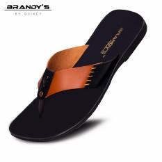 Brandys - Scott Sandal Kulit Pria - Brown
