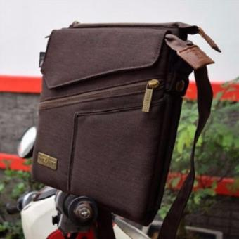 Brillante Brasso Tas Selempang Multifungsi untuk HP,Tablet & Power Bank [Brown/Coklat]