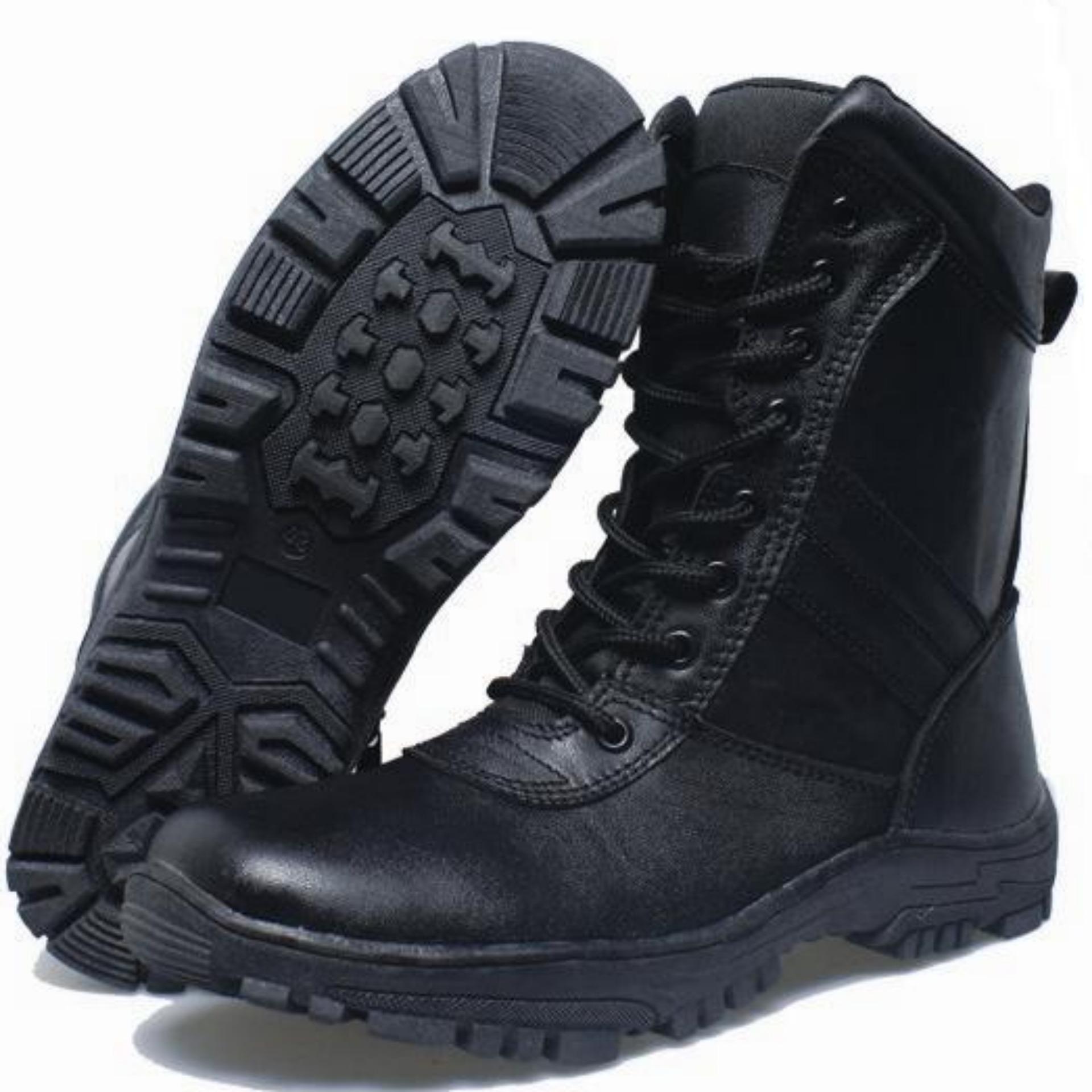 BSM Soga Sepatu Boot Kulit Asli PDL PDH Touring Bikers OutdoorHiking  Lapangan - Boots Kulit Best 9c2d364b96