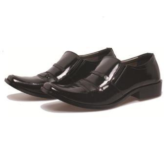 Gambar Bsm Soga Sepatu Pantofel Formal Kerja Kantor Kulit Asli Pria BDR144  Hitam 34a2904703
