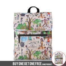 BUY 1 GET 1 FREE Exsport Tas Ransel Wanita Coachella - Cream