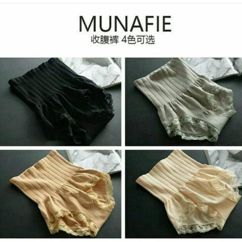 BUY 1 GET 1 Original Munafie Slimming Pants Korset Pelangsing 80 Gram Tebal .