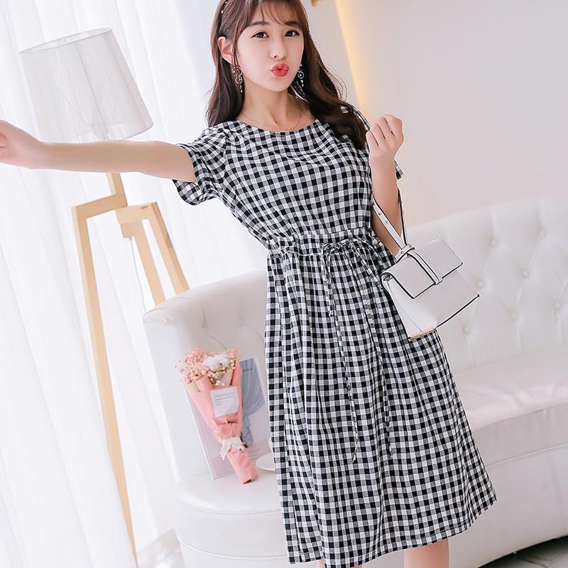 Flash Sale Caidaifei Korean-style slimming Slim fit Plus-sized versatile dress (Haig