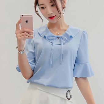Beli Labelle Dress Store Marwanto606 Source · CALAN DIANA Blus Wanita Simpel Bahan Sifon Banyak Warna Langit biru 214