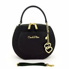 Carlo Rino 0303121-001-08 Black Cross Body Bag (Black)