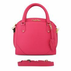 Carlo Rino 0303416-001-04 Pink Satchel Bag (Pink)