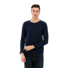 Carvil Terry Sweater Pria - Navy