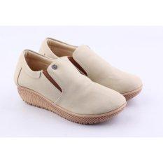 Catenzo Sandal Slip-on Wanita AHx061 Cream