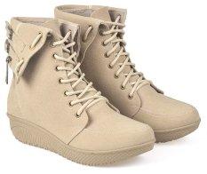 CBR Six BCC 885 Sepatu Fashion boots Wanita - Bagus -  Syntetic -  Krem