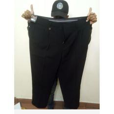 Celana bahan pria JUMBO HITAM / Celana kerja ukuran Jumbo / Celana formal BigSize 39/44