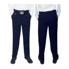 Celana bahan slimfit wool biru navy/ celana bahan slimfit biru /celana pria wool biru / celana formal slimfit biru