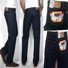 Celana Jeans Pria Reguler Standar Bahan Tidak Melar - Dongker