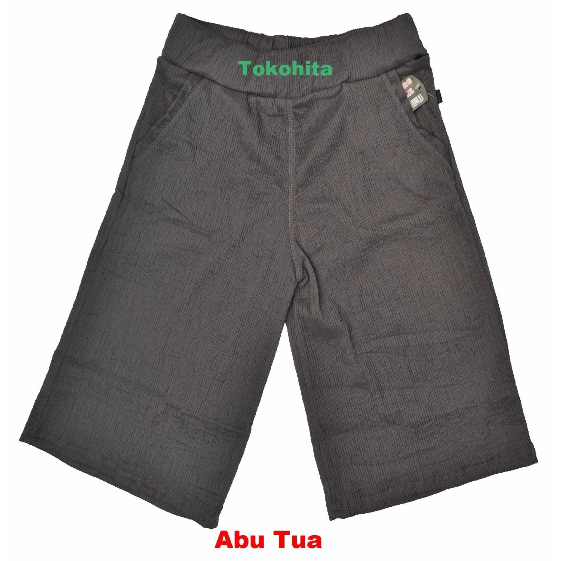 Moi Style Long Pleated Culotte Pants Celana Kulot Plisket Bubblepop High Quality Clothing Bcpj18100 Pendek 7 8 Dewasa Babat