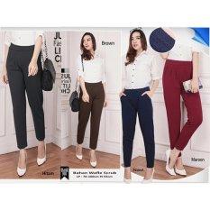 Celana pants panjang wanita jumbo Consita - hitam