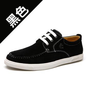 BELI Cheng rambut bernapas tahan slip soft suede pasang sepatu kasual sepatu sepatu (Chengfa 1328-hitam) TERPOPULER