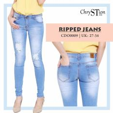 Chrystion Ripped Skinny Jeans Yelly