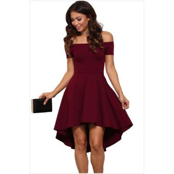 cicilia dress fashion wanita cantik-pinguin merah