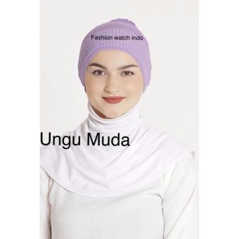 Ciput Inner Rajut Anti Pusing - Isi 4pcs - Abu Cream Dusty Ungu .