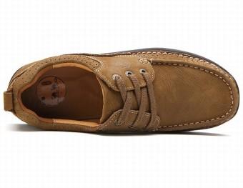 City Camel Sepatu Kulit Santai Pria Inggris Rekreasi Tebal SepatuHiking Sepatu Ternak Dasar Dril