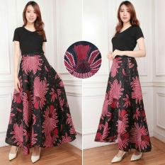 Cj collection Rok lilit batik maxi payung panjang wanita jumbo long skirt Padlia