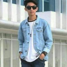 CLR NEW Jaket Jeans Denim Pria Men's - Bioblitz / Biru Muda