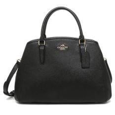 Coach Margot Black Crossgrain Leather F57527 Authentic Original